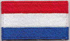 Netherlands Holland  Country Flag Embroidered Patch T4