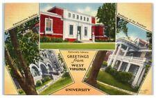 1950 Greetings from West Virginia University, Morgantown, WV Postcard