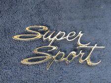 1966-67 CHEVY NOVA CHEVY II  REAR QUARTER PANEL EMBLEM SS SUPERSPORT  NOS GM 716