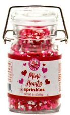 Mini Hearts Sprinkles - For Cake and Baked Goods Decorating 6.4 Oz