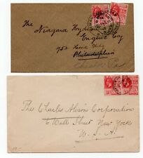 BRITISH GUIANA TWO KGV COVERS to U S A