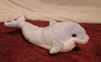 "TY CLIPPER THE DOLPHIN BEANIE BABIES 2008 Plush 9"" Pale Blue Free Shipping"