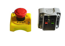 New Plastic Shell Red Sign Emergency Stop Mushroom Push Button Switch 12V 24V