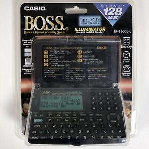 Vintage Casio Digital Diary BOSS SF-4900L ORGANIZER NOS Electronic Gadget 128KB