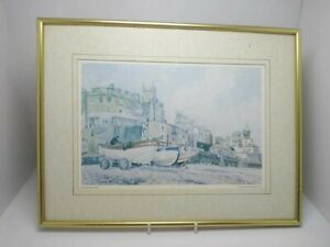 LIMITED EDITION PRINT , SIGNED , CROMER BEACH BY JOHN INSALL 1880