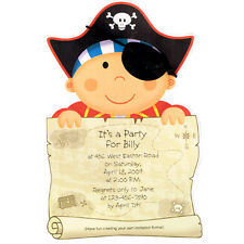 PIRATE PARTY IMPRINTABLE INVITATIONS (8) ~ Birthday Party Supplies Invites Ahoy