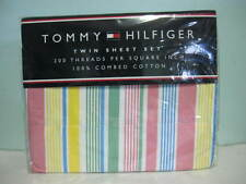 NEW TOMMY HILFIGER DALY CITY PINK 200 THREADCOUNT TWIN SHEETS BEDSHEETS SET SALE