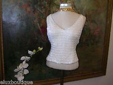GIORGIO ARMANI Collezioni TOP Sequin Camisole Tank Blouse Dress Shirt XS 2 NEW !
