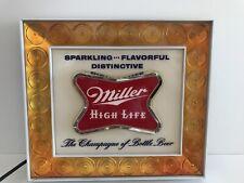 Vintage Miller High Life Beer Sign Lighted Bar Advertisement Light