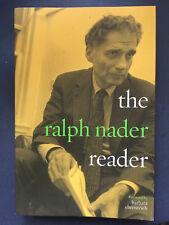 The Ralph Nader Reader Signed 1st Paperback