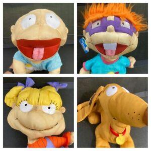Play-By-Play Rugrats Set Nylon Plush Pillows 90's Nickelodeon Retro Read Descrip