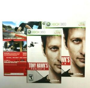 (MANUAL AND ARTWORK ONLY) (NO GAME) XBOX 360 - Tony Hawk's Project 8