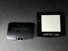 Black Battery Cover lid with Logo & Glass Screen Lens for Game Boy Color B23
