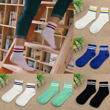 417b027db1a 6pairs Men Women Over Knee Stripe Tube Long Socks ugby Sport Ankle Sock  Fashion