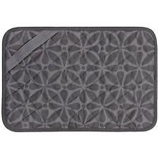 "11""x17"" Trivet Mat Protector Table Countertop Heat Resistant AntiSkid Gray Print"