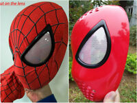 Cosplay amazing spiderman faceshell With Lenses lens&spiderman fabric mask props