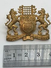More details for westminster dragoons i.y. pre-1908 voided portcullis gilt officers cap badge b10