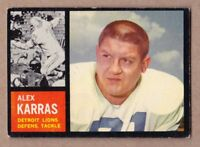 1962 Topps #58 Alex Karras Detroit Lions EX cond. no creases