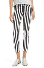 Rag & Bone Black & White Skinny Jeans Benton Striped Capri sz.24 NWT $185
