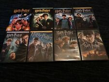 HARRY POTTER 1-7 PART 2 DVDS, ALL 8 MOVIES, VG-GREAT SHAPE