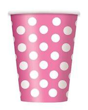 Decoración y menaje vasos de color principal rosa para todas las ocasiones para mesas de fiesta