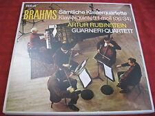 3 LP BOX Artur Rubinstein Brahms tutte le pianoforte Quartette RCA Red Seal