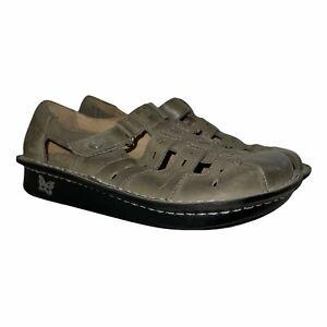 Alegria Green Leather Strappy Clogs Sandals Nursing Women's 35 5-5.5