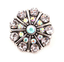 3DCrystal Chunk Charm Snap Button Fit For Noosa Necklace/Bracelet NSKZ145