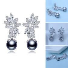 Fashion Women Elegant Shell Pearl Dangle Drop Earring Stud Wedding Jewelry Gifts