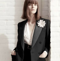 See By Chloe Black Tuxedo Blazer Coat Jacket Size 4 Satin Lapel Pockets Womens