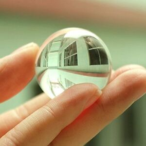 50mm Glass Crystal Paper Weight Clear Natural Sphere Quartz Magnifying