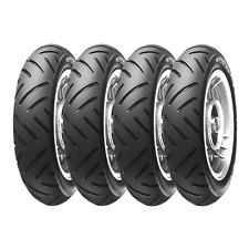 Quattro ruote complete cromate Metzeler ME 1 3.50-10 59J Piaggio Ape 50