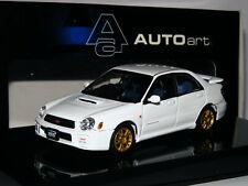 AutoArt 58641 2001 Subaru Impreza WRX STi White 1/43