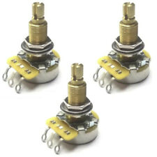 CTS 250K Audio Taper Pro Guitar Pots w/Fine Spline Long Brass Shaft & Bushing(3)