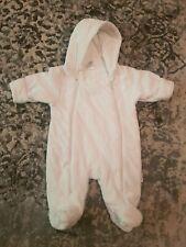 Next Baby Unisex White Snow Suit
