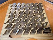 Brass Script Letters Fonts Total Of 123 Pieces.