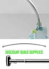 Croydex Premium Curved 25mm Stainless Steel Bath Shower Telescopic Curtain Rail