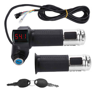 5 Wire Voltage LED Display Twist Throttle Universal for 12-99V Ebike Scooter US