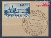 Franz. Zone-Baden 46I geprüft gestempelt 1949 Konstanz (8496638