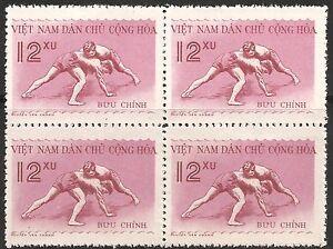 North Vietnam Stamp - Scott #104/A39 12xu Sheet of 4 WG Mint/LH 1959