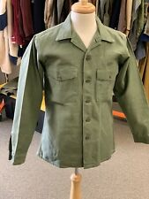 "USMC Vintage 1960s OG-107 Type 1 US Army Utility Shirt, 42R""+ chest"