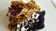 Assorted Faux Fur Scraps / Pieces - High Quality - 1KG (30 pieces)