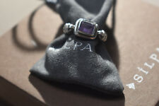 "Silpada Sterling Silver ""Misty Morning"" Amethyst Ring size 7 R1158"