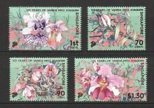 SINGAPORE 2018 125 YEARS OF ORCHID VANDA MISS JOAQUIM COMP. SET OF 4 STAMPS MINT