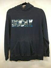 Rocky Movie Large Sweatshirt Hoodie Blue Sylvester Stallone Mens HTF Size M