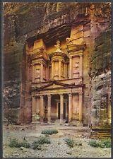 Jordanien Jordan used Post Card Postkarte Bauwerk building Petra [cm597]