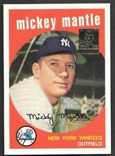 ***1996 Topps Mickey Mantle Reprint #9 - 1959 Topps #10