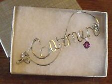 CARMEN Vintage style Wire Name Pin  Handmade  - Any Name Personalized
