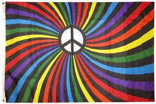 3x5 Rainbow Peace Swirl Premium Waterproof Polyester Flag 3'x5' Durable Bold