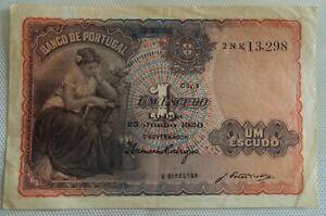 Portugal Banknotes: Um Escudo, 1920